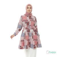Atasan Muslim Wanita | Ariana Tunik Red | S M L XL | Tazkia Hijab
