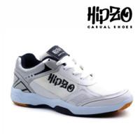 Sepatu Pria Sepatu Badminton Pria Sepatu Sport Pria Sepeda HIPZO M33 - Putih - Hitam, 39