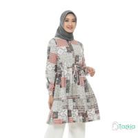 Atasan Muslim Wanita | Ariana Tunik Abu| S M L XL | Tazkia Hijab