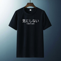 T-shirt I Dont Care / Baju Kaos Distro Pria Wanita Kaos Kata Kata
