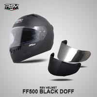 FF500 BLACK DOFF + VISOR DARKSMOKE / VISOR IRIDIUM