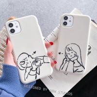 Case iPhone Art Couple Boy Girl 12mini 12 Pro Max 11 Pro Max X Xs Max