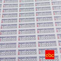 Sticker Segel Garansi Bahan Pecah Telur uk. 0.5cm kecil