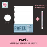 Loose Leaf / Isi Binder B5 Garis, Dotted, Grid, Plain PAPEL 50 lembar