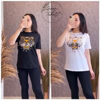 T Shirt Cewek Lengan Pendek / Kaos Wanita Terbaru KNZ0 Size L