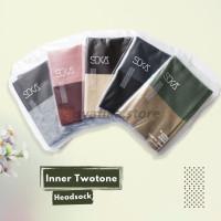 Ciput Bandana Essentials Rajut SOKA Inner Twotone - Inner Hijab - DustyPin-Maroon