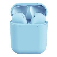 (COD)9 Warna TWS Bluetooth 5.0 Earphone Earbud Olahraga Headset - Biru Muda