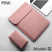Laptop Asus ZenBook Pro Duo UX581 14 Tas Sleeve Pink Leather Premium