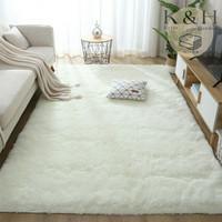 Karpet Polos Premium Bulu Anti Slip Ruang Tamu Keluarga Tebal 4cm