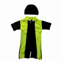 Baju renang bayi laki-laki dan perempuan usia 1-3 tahun Original Unise - Hitam stabilo, Xl