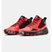 UNDER ARMOUR Lockdown 5 Basketball Shoes - Red