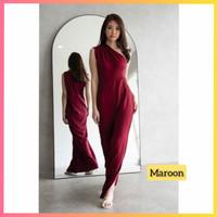 baju dress pesta anak 16-22thn perempuan remaja yuki maxi gaun maroon