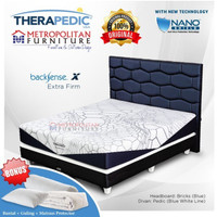 Set Springbed Therapedic Backsense X uk 200 x 200 matrass ( Fullset )