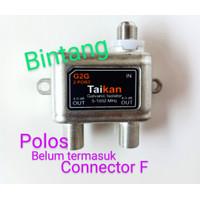 splitter antena tv cabang sambungan 2 way spliter Signal drat