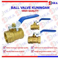"stop kran besi Kuningan / ball valve Kuningan 1/2"" 3/4 1"