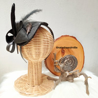 BANDO FASCINATOR FEATHER HAT - Full Black