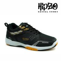Sepatu Pria Badminton Sepatu Pria Sport Sepatu Olahraga HIPZO M42 - Hitam, 39