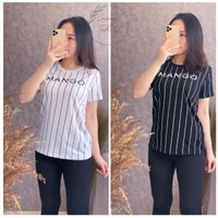 Baju Kaos Wanita Lengan Pendek Import / Tshirt Wanita Mang0 Size L