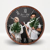 (FFRC) Jam dinding kado pernikahan custom foto hadiah anniversary