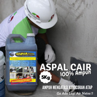 Aspal Cair Anti Bocor Pelapis Anti Rembes Original Dingding Lantai 5kg