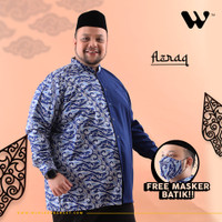 WGB Koko Batik Panjang Pria Azraq Big Size Ukuran Besar Jumbo XXL XXXL