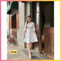 baju dress pesta anak 16-22thn perempuan remaja chabo gaun putih