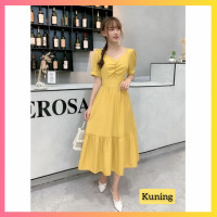 baju dress pesta anak 16-22thn perempuan remaja vita gaun kuning