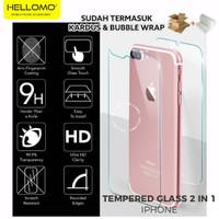 Tempered Glass Depan dan Belakang iPhone 7 7+ 8 8+ Plus X / Anti Gores