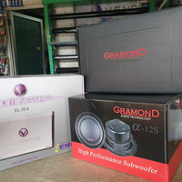 Paket audio SQ | power venom illuminator | speaker gramond R1 | sub 12