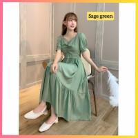 baju dress pesta anak 16-22thn perempuan remaja vita gaun saga green
