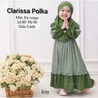Gamis Anak 5 tahun Baju Gamis Muslim Anak CLARISSA army 5-6 th