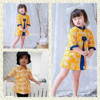 Batik Couple Anak Batik Anak Couple Kakak Adik Baju Kuning Kekinian