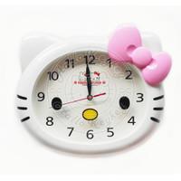 Jam Dinding Besar Kepala Hello Kitty Pita Pink Biruapistore52