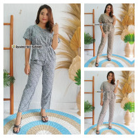 Baju Setelan Wanita Rumput / Baju Setelan Celana Wanita Kekinian
