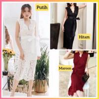 baju dress pesta anak 16-22thn perempuan remaja kyung gaun hitam
