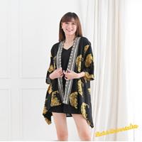 Kimono Outer Batik Asymmetric Cardigan - Crescent Eid