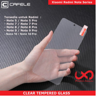 CAFELE TEMPERED GLASS XIAOMI REDMI Note 7 8 9 10 X PRO - CLEAR HD