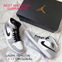 Sepatu Casual Hype Nike Air Jordan 1 Mid UA/PK Light Smoke Grey Pria