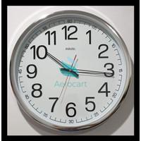 Jam Dinding Sakana 715 Warna Putih Chrome Ukuran 50 Cm - Putih Hot