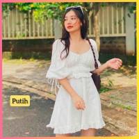 baju dress pesta anak 16-22thn perempuan remaja diona gaun putih