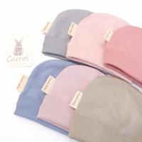 Carrol baby new born hat cotton - topi bayi polos