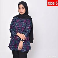 Batik Atasan Wanita Lengan Panjang Blouse Wanita Batik Modern