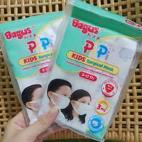 Masker Anak atau Bayi Surgical Face Mask Merk Bagus isi 5