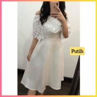 baju dress pesta anak 16-22thn perempuan remaja melly gaun putih