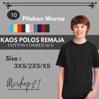 Baju Kaos Oblong Tshirt Polos - Remaja Tanggung Laki Laki Cotton Combe