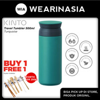 Kinto Travel Insulated Tumbler 500ML Turquoise Tahan Panas-Dingin 6Jam