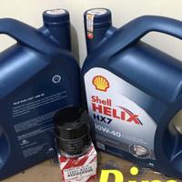 Oli mesin shell helix HX7 10W-40. 4liter avanza xenia rush terios
