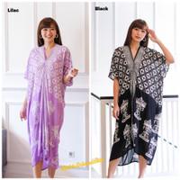 Kaftan batik dress modern motif kawung carousel