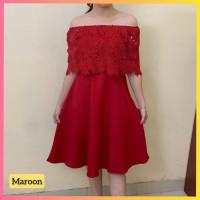 baju dress pesta anak 16-22thn perempuan remaja melly gaun maroon