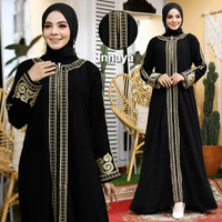 Baju Muslim Abaya Bordir Gamis Maxi Dress Arab Saudi Bordir by Noeraba